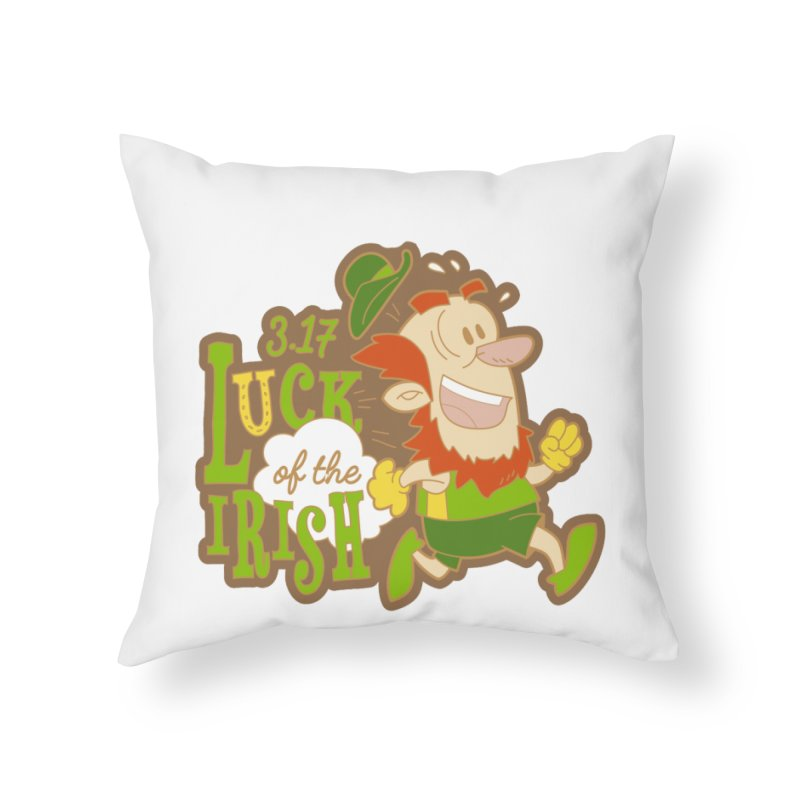 Luck of the Irish 3.17 Home Throw Pillow by moonjoggers's Artist Shop