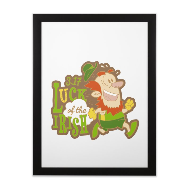 Luck of the Irish 3.17 Home Framed Fine Art Print by moonjoggers's Artist Shop