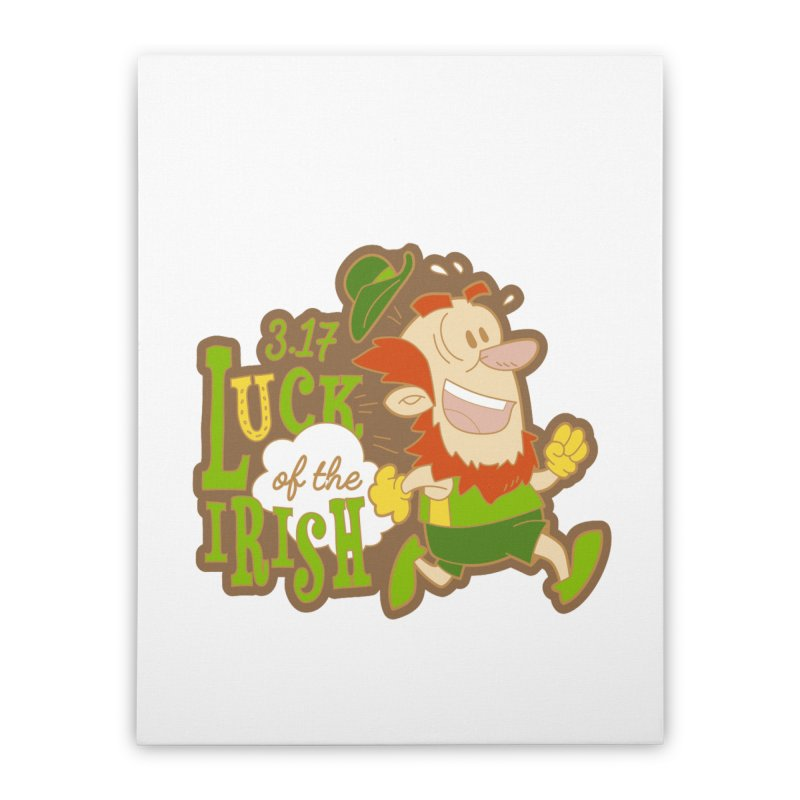 Luck of the Irish 3.17 Home Stretched Canvas by moonjoggers's Artist Shop