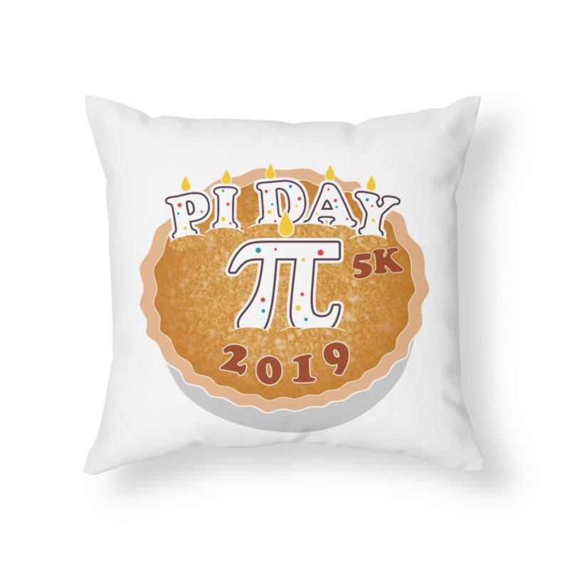 Pi Day 5K Home Throw Pillow by moonjoggers's Artist Shop