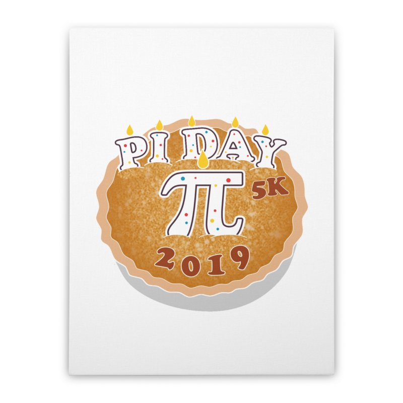 Pi Day 5K Home Stretched Canvas by moonjoggers's Artist Shop