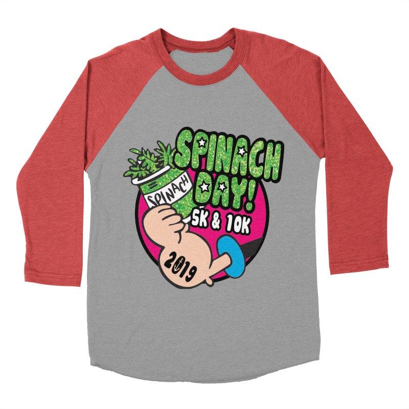 Spinach Day 5K & 10K Women's Baseball Triblend Longsleeve T-Shirt by moonjoggers's Artist Shop