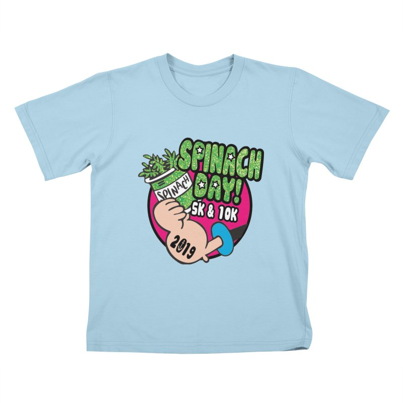 Spinach Day 5K & 10K Kids T-Shirt by moonjoggers's Artist Shop