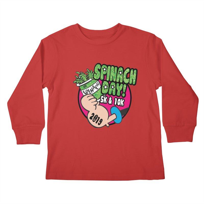 Spinach Day 5K & 10K Kids Longsleeve T-Shirt by moonjoggers's Artist Shop