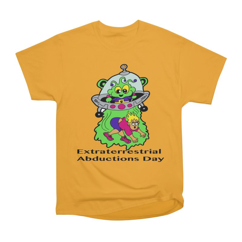 Extraterrestrial Abductions Day 5K & 10K Men's Heavyweight T-Shirt by moonjoggers's Artist Shop