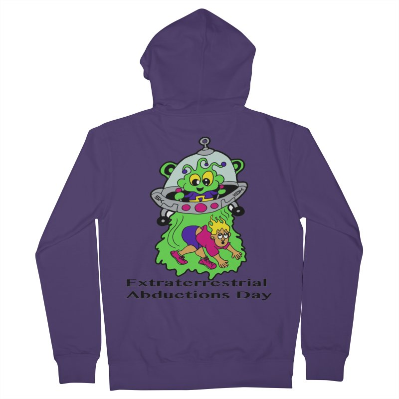 Extraterrestrial Abductions Day 5K & 10K Women's French Terry Zip-Up Hoody by moonjoggers's Artist Shop