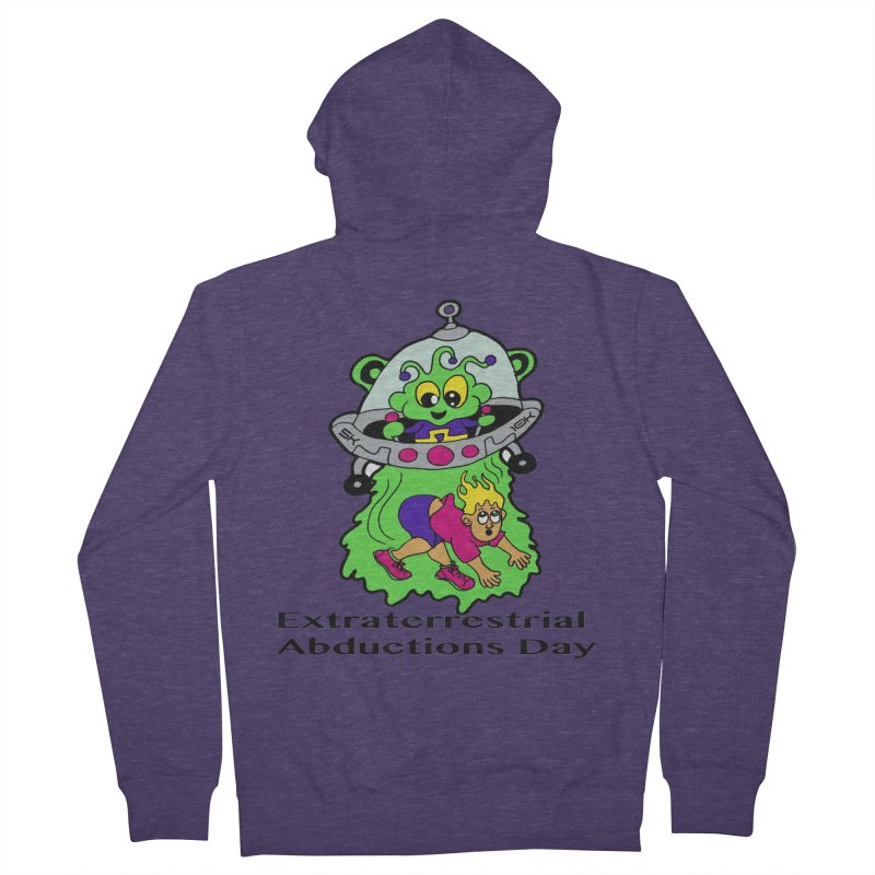 Extraterrestrial Abductions Day 5K & 10K Men's French Terry Zip-Up Hoody by moonjoggers's Artist Shop