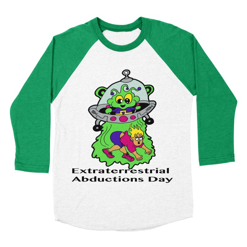 Extraterrestrial Abductions Day 5K & 10K Men's Baseball Triblend Longsleeve T-Shirt by moonjoggers's Artist Shop