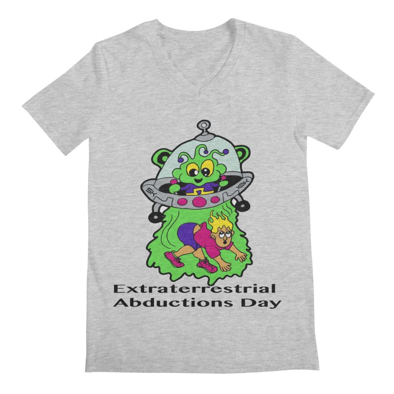 Extraterrestrial Abductions Day 5K & 10K Men's Regular V-Neck by moonjoggers's Artist Shop