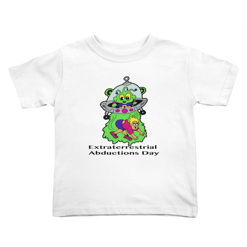 Extraterrestrial Abductions Day 5K & 10K Kids Toddler T-Shirt by moonjoggers's Artist Shop