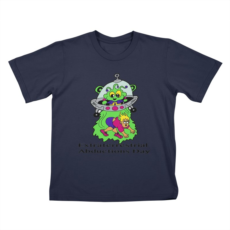 Extraterrestrial Abductions Day 5K & 10K Kids T-Shirt by moonjoggers's Artist Shop