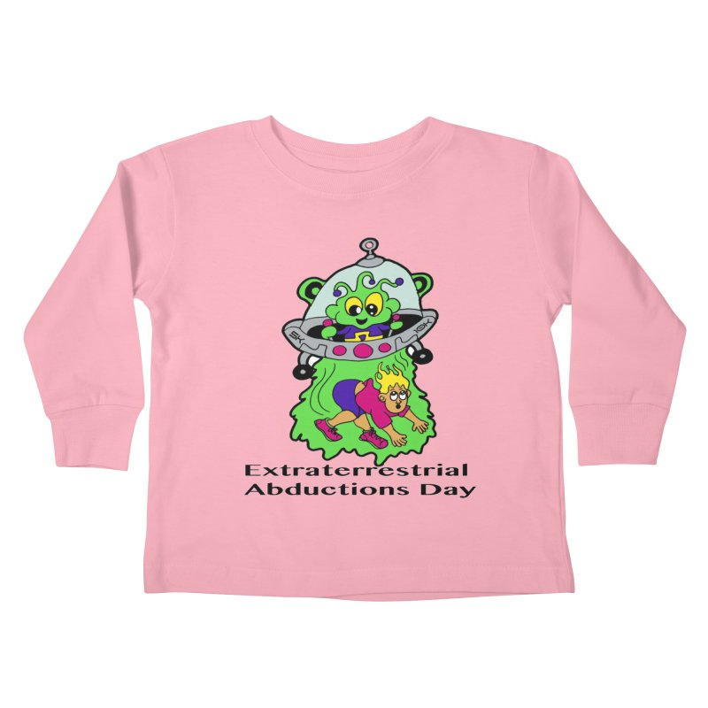 Extraterrestrial Abductions Day 5K & 10K Kids Toddler Longsleeve T-Shirt by moonjoggers's Artist Shop