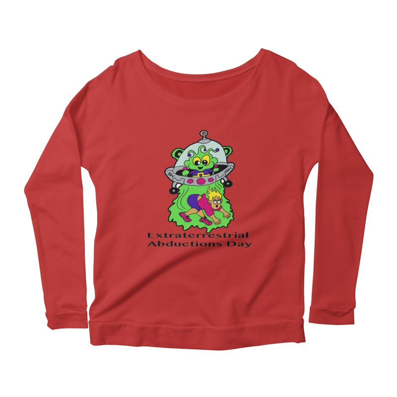Extraterrestrial Abductions Day 5K & 10K Women's Scoop Neck Longsleeve T-Shirt by moonjoggers's Artist Shop