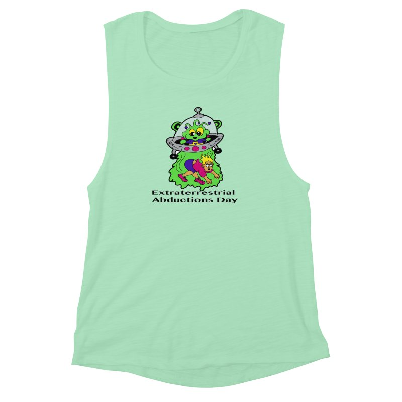 Extraterrestrial Abductions Day 5K & 10K Women's Muscle Tank by moonjoggers's Artist Shop