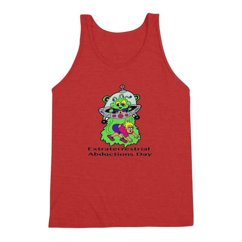 Extraterrestrial Abductions Day 5K & 10K Men's Triblend Tank by moonjoggers's Artist Shop