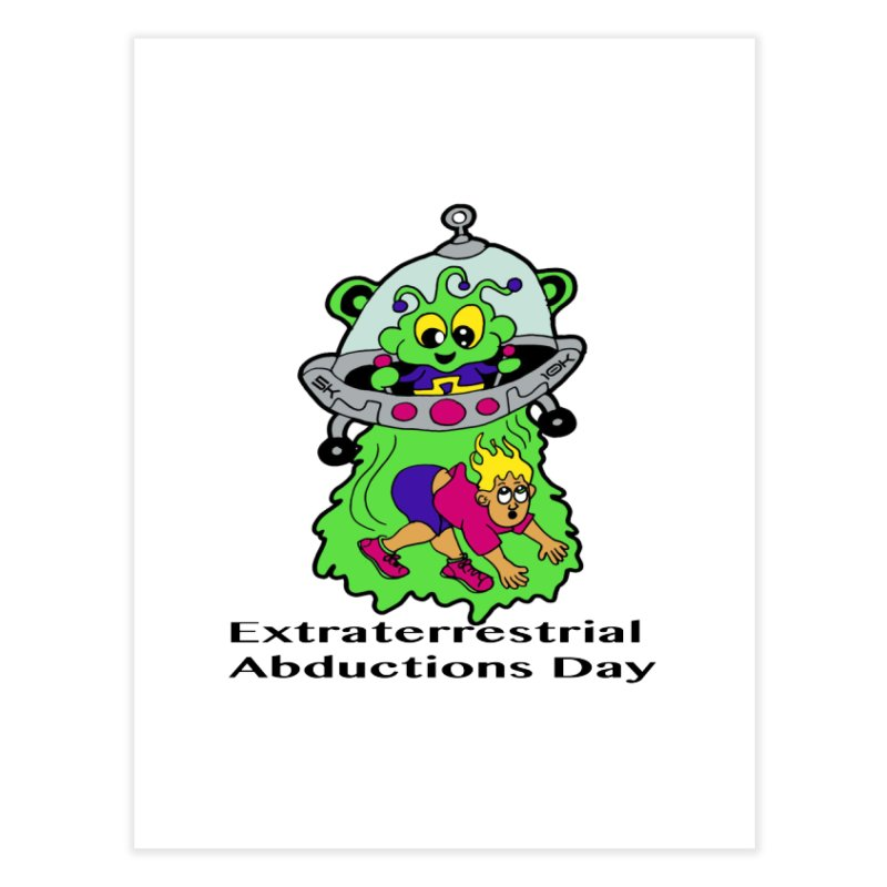 Extraterrestrial Abductions Day 5K & 10K Home Fine Art Print by moonjoggers's Artist Shop