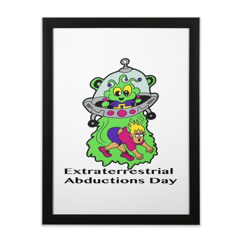 Extraterrestrial Abductions Day 5K & 10K Home Framed Fine Art Print by moonjoggers's Artist Shop