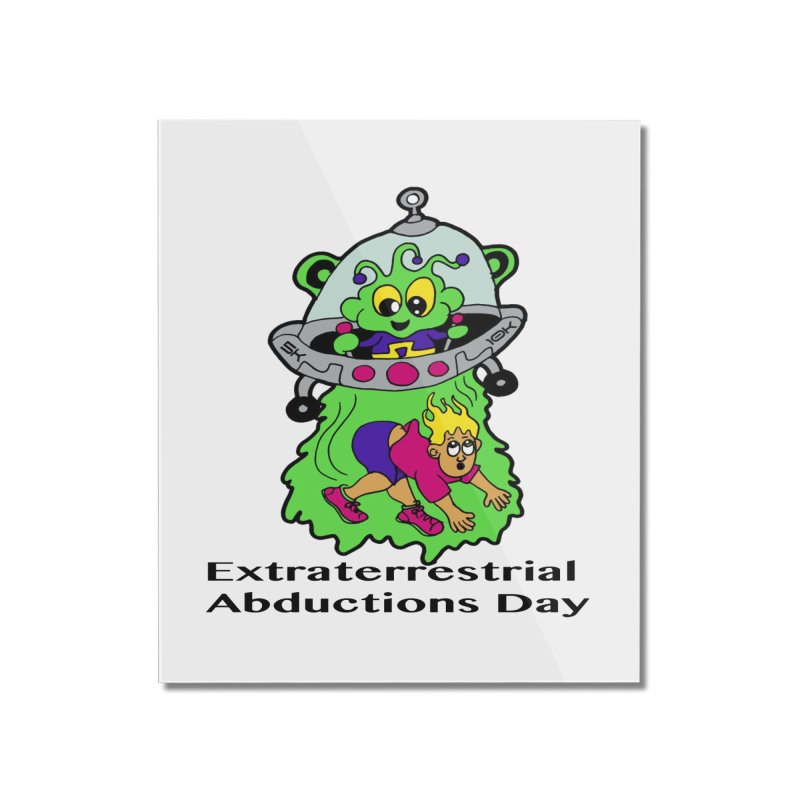 Extraterrestrial Abductions Day 5K & 10K Home Mounted Acrylic Print by moonjoggers's Artist Shop