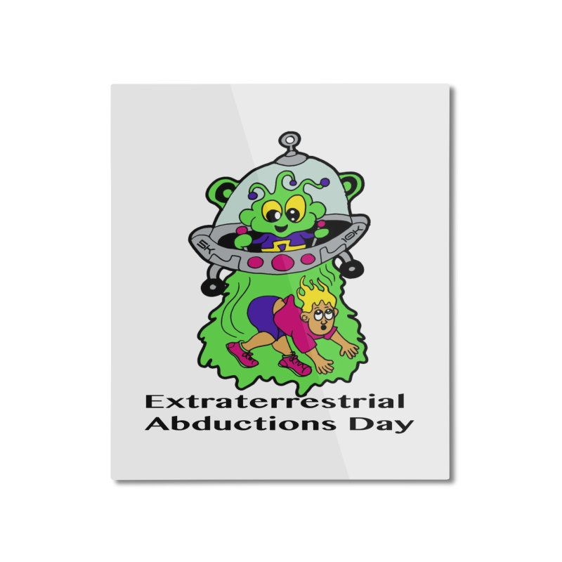 Extraterrestrial Abductions Day 5K & 10K Home Mounted Aluminum Print by moonjoggers's Artist Shop