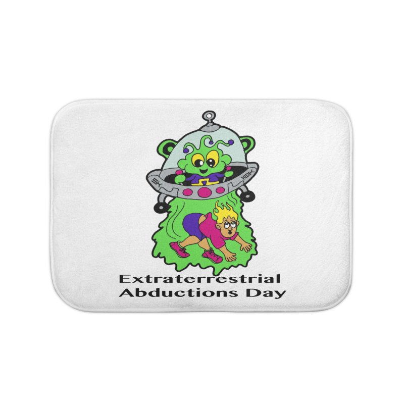 Extraterrestrial Abductions Day 5K & 10K Home Bath Mat by moonjoggers's Artist Shop