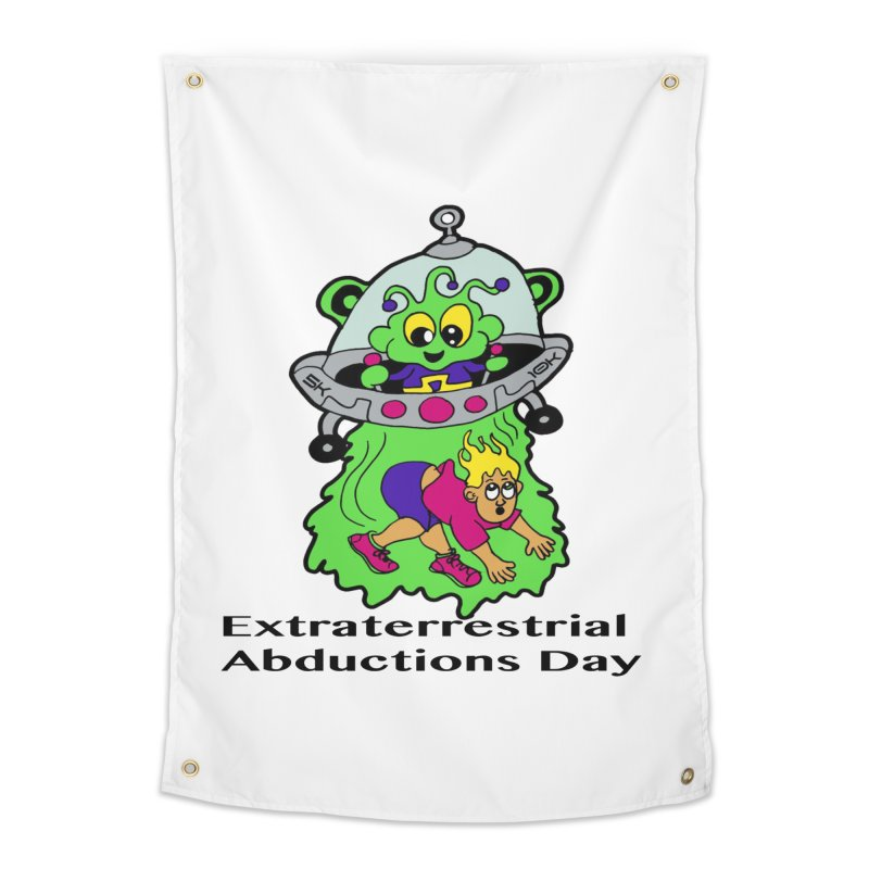 Extraterrestrial Abductions Day 5K & 10K Home Tapestry by moonjoggers's Artist Shop