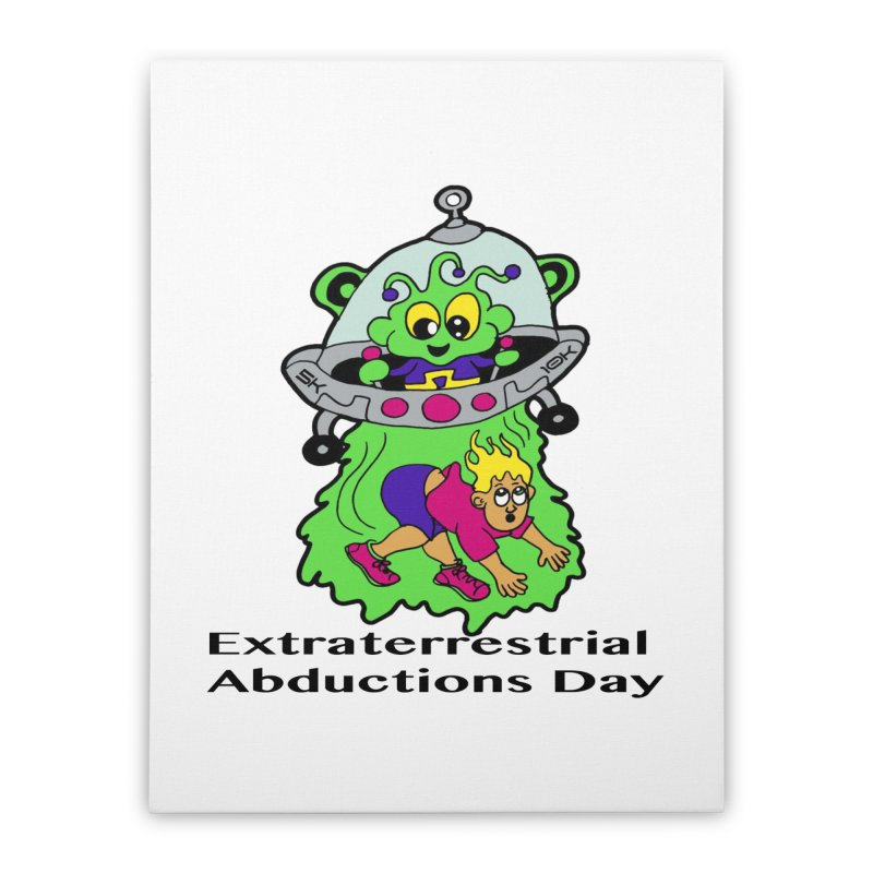 Extraterrestrial Abductions Day 5K & 10K Home Stretched Canvas by moonjoggers's Artist Shop