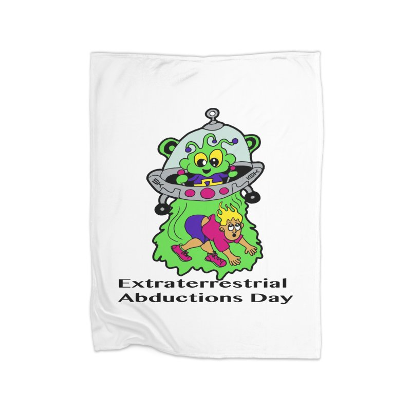 Extraterrestrial Abductions Day 5K & 10K Home Blanket by moonjoggers's Artist Shop