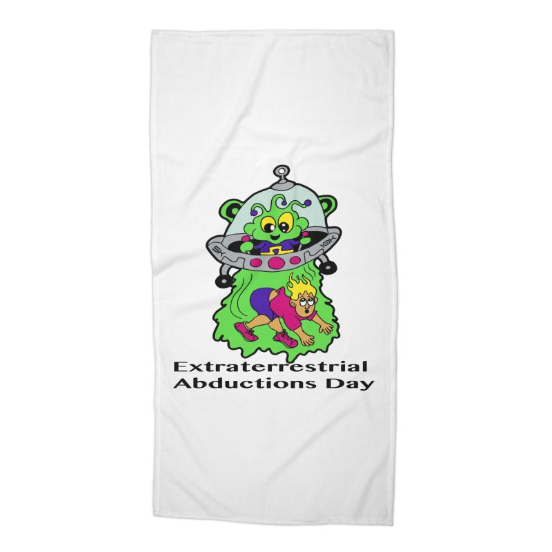 Extraterrestrial Abductions Day 5K & 10K Accessories Beach Towel by moonjoggers's Artist Shop