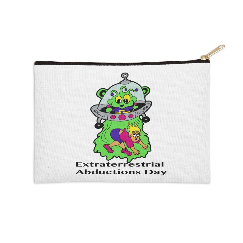 Extraterrestrial Abductions Day 5K & 10K Accessories Zip Pouch by moonjoggers's Artist Shop