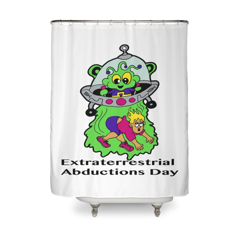 Extraterrestrial Abductions Day 5K & 10K Home Shower Curtain by moonjoggers's Artist Shop