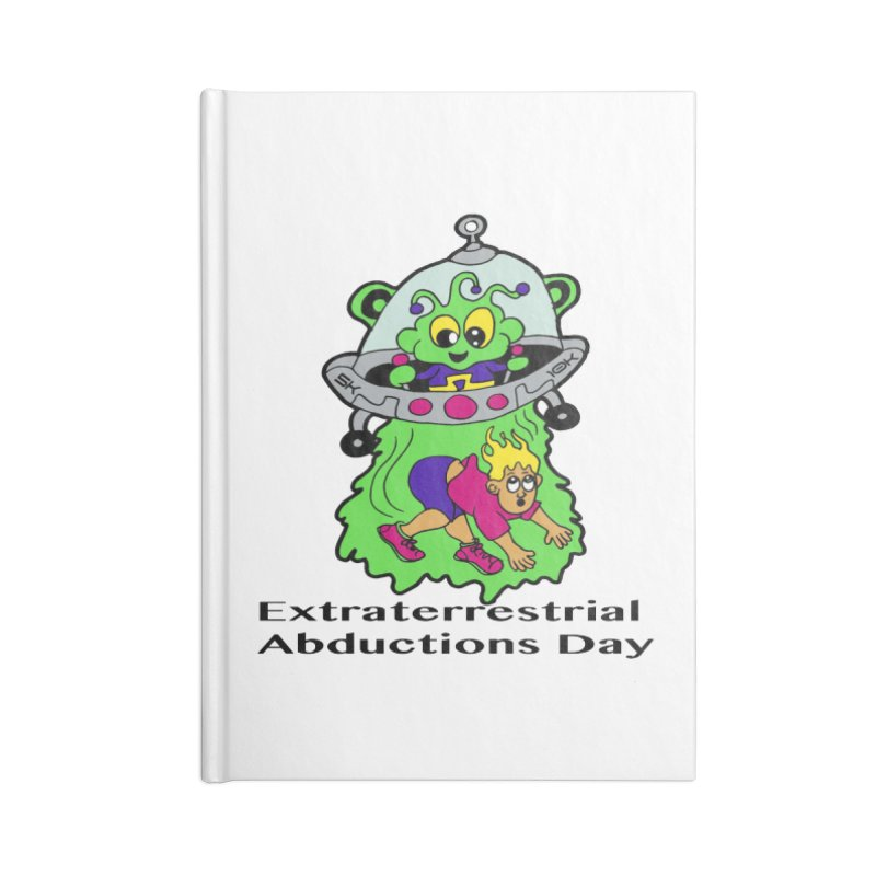 Extraterrestrial Abductions Day 5K & 10K Accessories Notebook by moonjoggers's Artist Shop