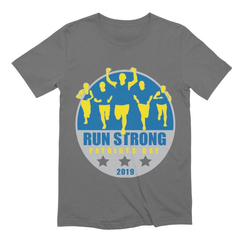 Patriots Day 1 Mile, 5K, 10K, 13.1, 26.2 Men's T-Shirt by Moon Joggers's Artist Shop