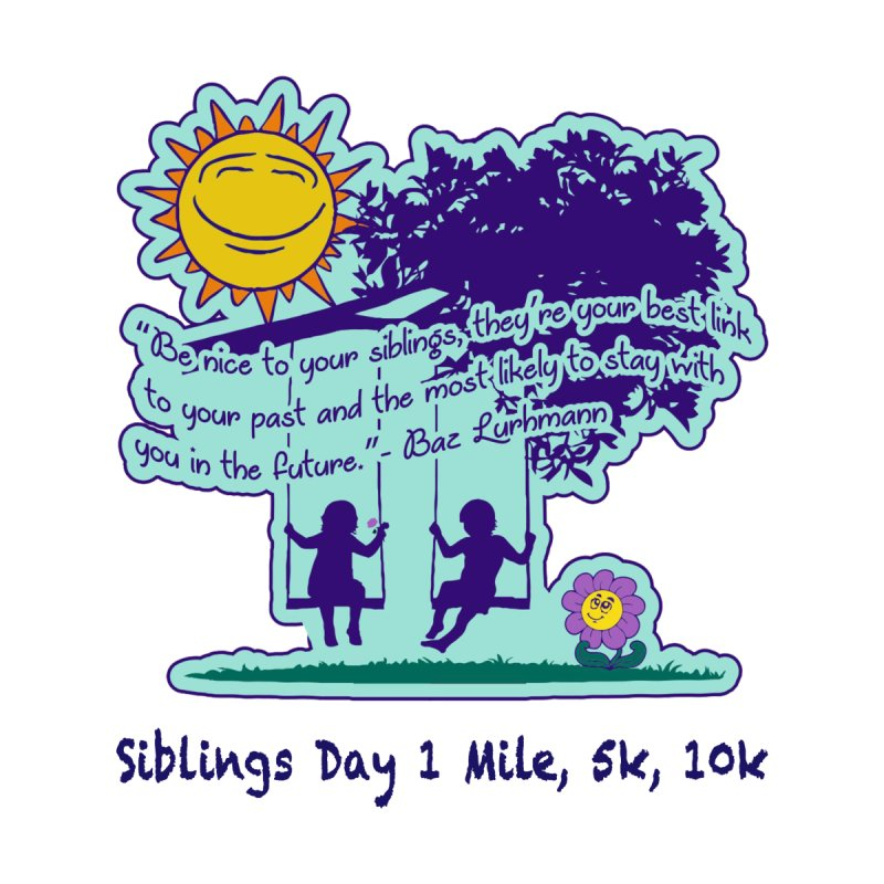 Siblings Day 1 Mile, 5K, 10K Men's T-Shirt by Moon Joggers's Artist Shop