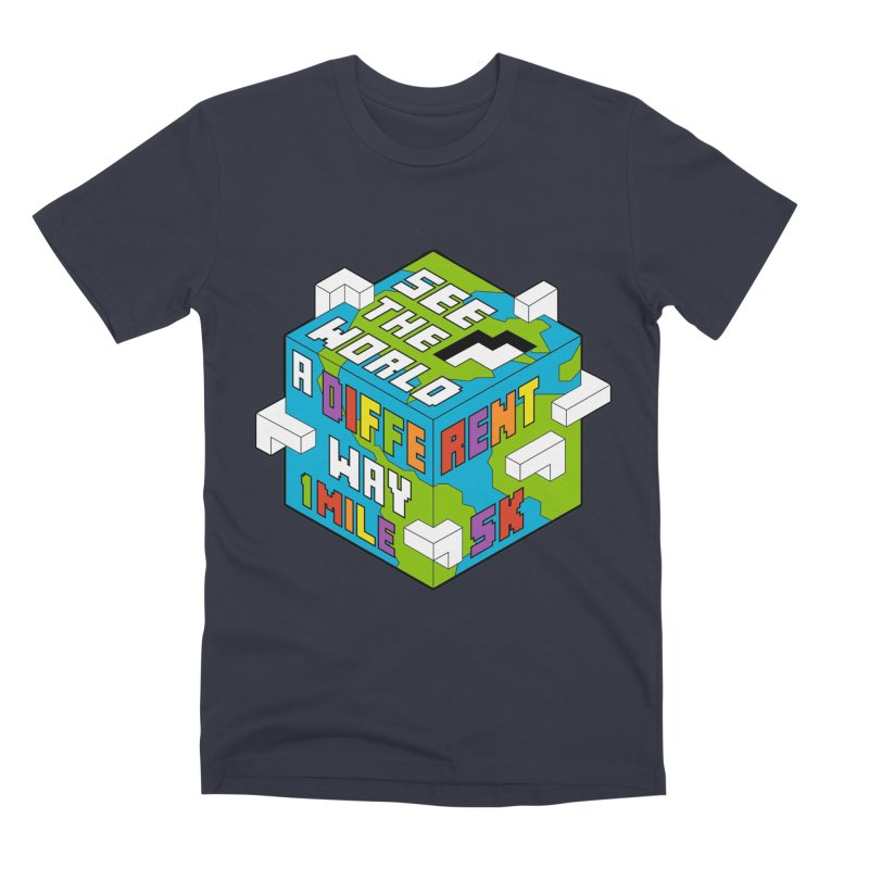 See The World  A Different Way 1 Mile and 5K Men's T-Shirt by Moon Joggers's Artist Shop