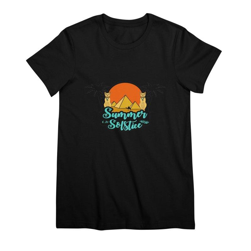 Summer Solstice 6.21 Mile Women's Premium T-Shirt by moonjoggers's Artist Shop