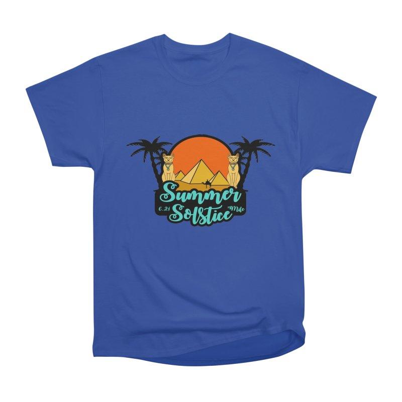 Summer Solstice 6.21 Mile Women's Heavyweight Unisex T-Shirt by moonjoggers's Artist Shop
