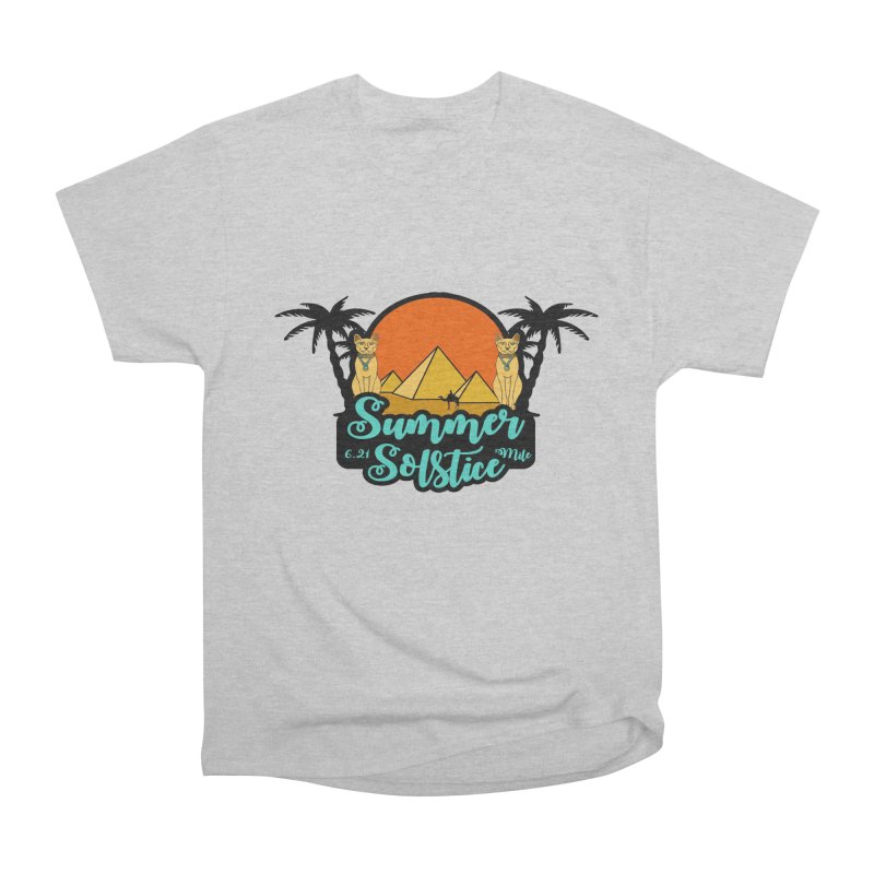 Summer Solstice 6.21 Mile Men's Heavyweight T-Shirt by moonjoggers's Artist Shop