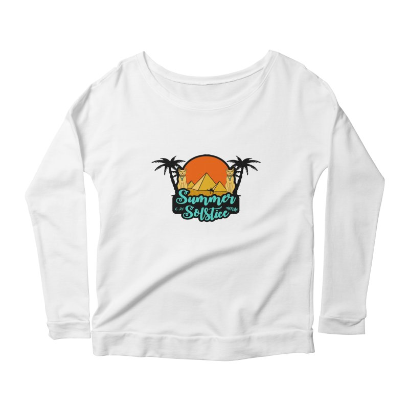Summer Solstice 6.21 Mile Women's Scoop Neck Longsleeve T-Shirt by moonjoggers's Artist Shop