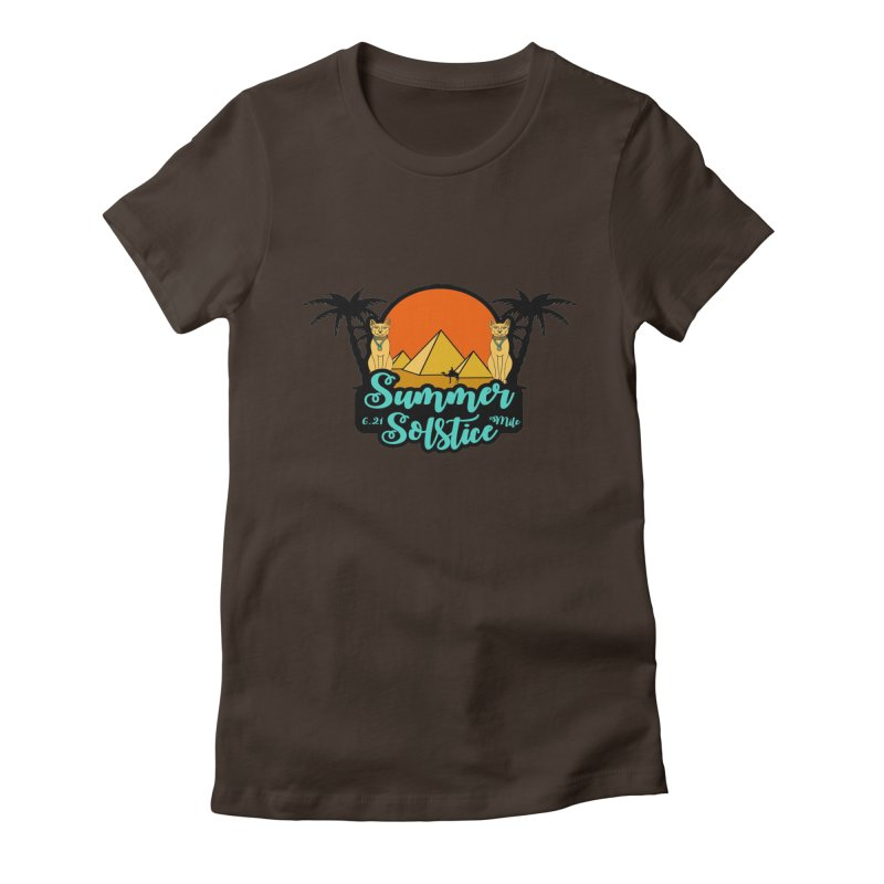 Summer Solstice 6.21 Mile Women's Fitted T-Shirt by moonjoggers's Artist Shop