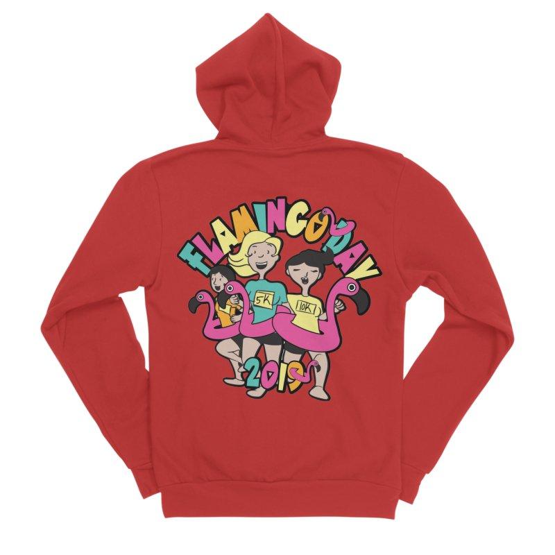 Flamingo Day 5K & 10K Men's Sponge Fleece Zip-Up Hoody by moonjoggers's Artist Shop
