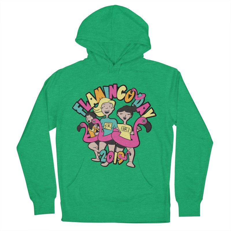 Flamingo Day 5K & 10K Men's French Terry Pullover Hoody by moonjoggers's Artist Shop