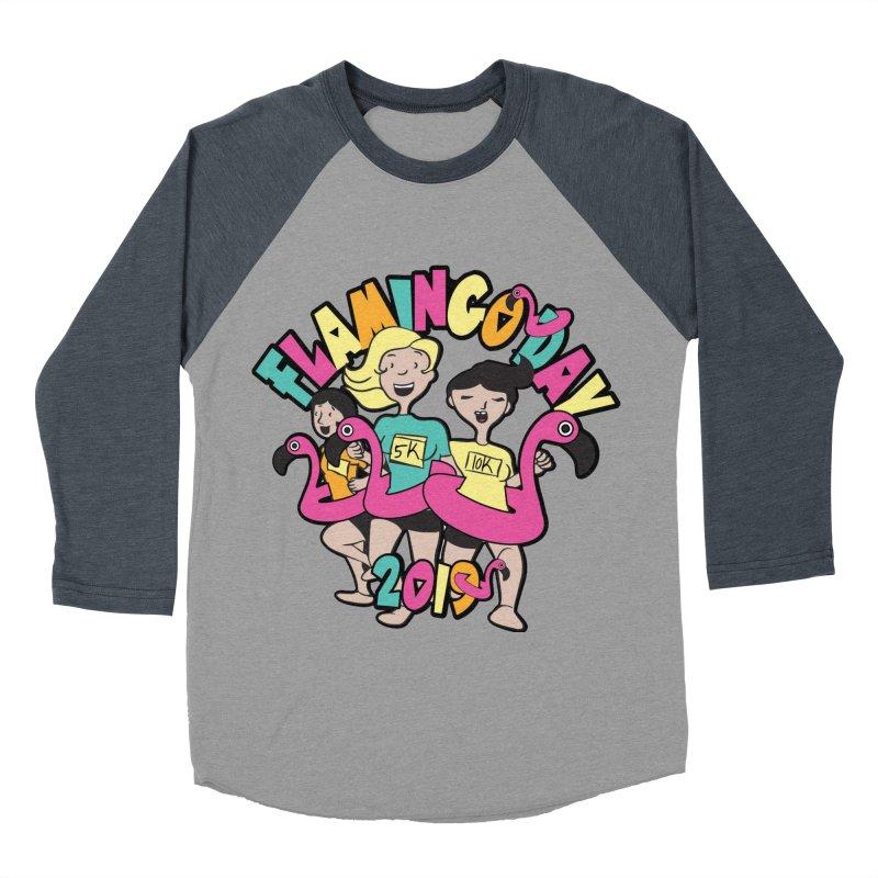Flamingo Day 5K & 10K Women's Baseball Triblend Longsleeve T-Shirt by moonjoggers's Artist Shop