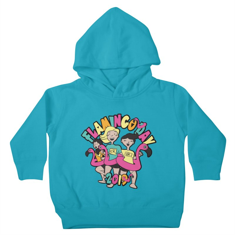 Flamingo Day 5K & 10K Kids Toddler Pullover Hoody by moonjoggers's Artist Shop