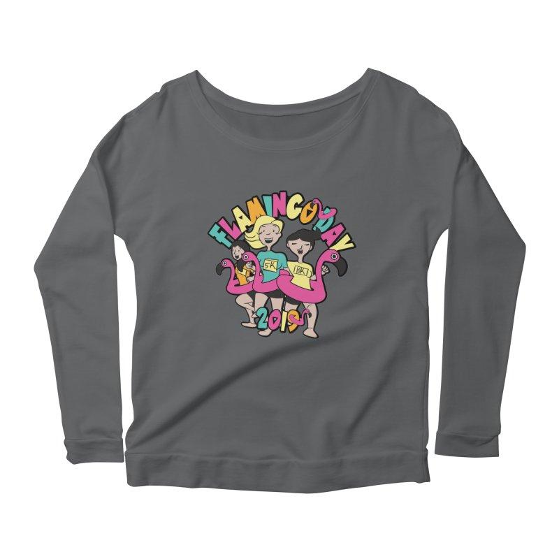 Flamingo Day 5K & 10K Women's Scoop Neck Longsleeve T-Shirt by moonjoggers's Artist Shop