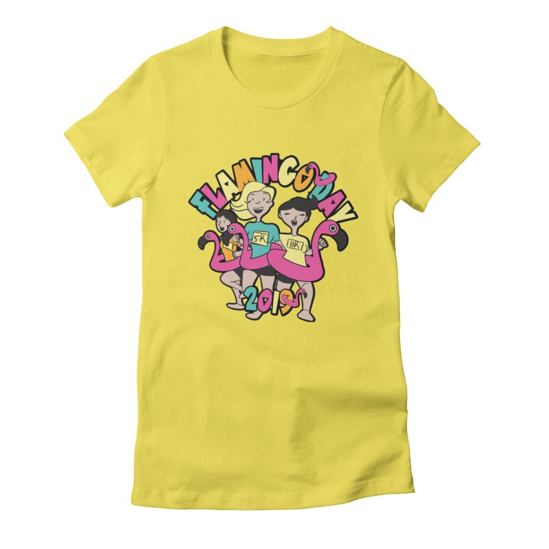 Flamingo Day 5K & 10K Women's Fitted T-Shirt by moonjoggers's Artist Shop