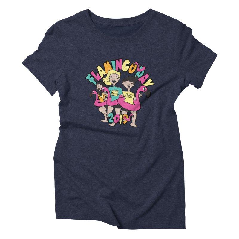 Flamingo Day 5K & 10K Women's Triblend T-Shirt by moonjoggers's Artist Shop