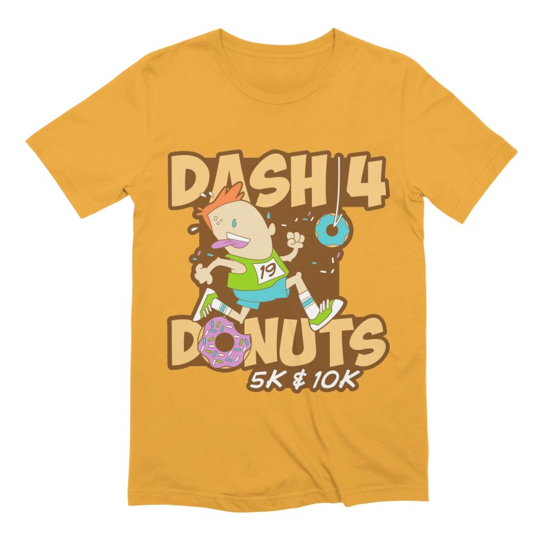 Dash 4 the Donuts 5K & 10K Men's Extra Soft T-Shirt by moonjoggers's Artist Shop