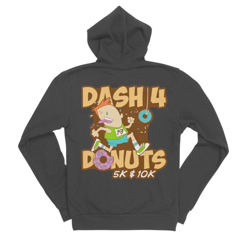 Dash 4 the Donuts 5K & 10K Men's Sponge Fleece Zip-Up Hoody by moonjoggers's Artist Shop