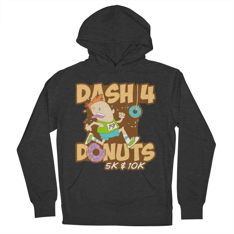 Dash 4 the Donuts 5K & 10K Men's French Terry Pullover Hoody by moonjoggers's Artist Shop