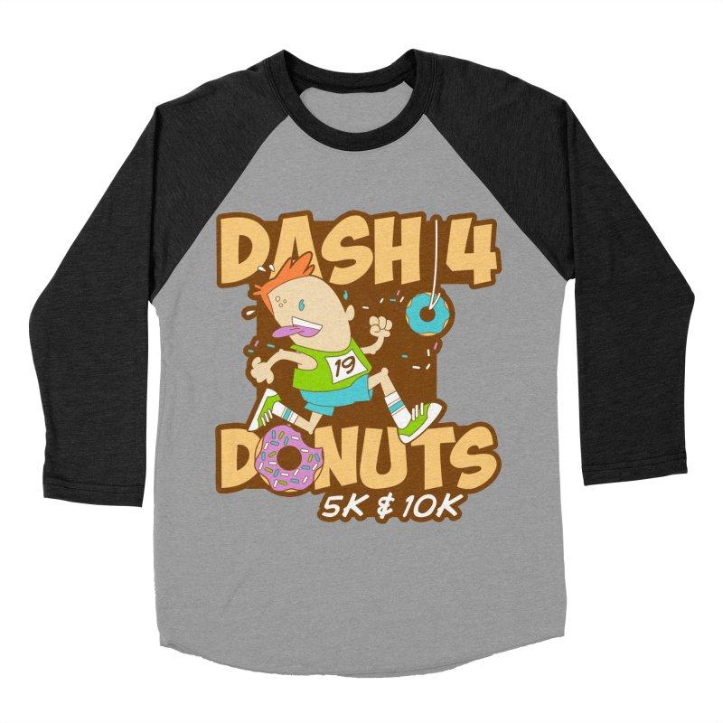 Dash 4 the Donuts 5K & 10K Women's Baseball Triblend Longsleeve T-Shirt by moonjoggers's Artist Shop